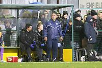 Haringey manager Tom Loizou during Haringey Borough vs AFC Wimbledon, Emirates FA Cup Football at Coles Park Stadium on 9th November 2018