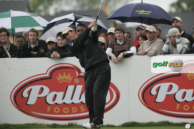Padraig Harrington tees off on the 4th hole during the final round of the Irish Open on 20th of May 2007 at the Adare Manor Hotel & Golf Resort, Co. Limerick, Ireland. (Photo by Eoin Clarke/NEWSFILE).