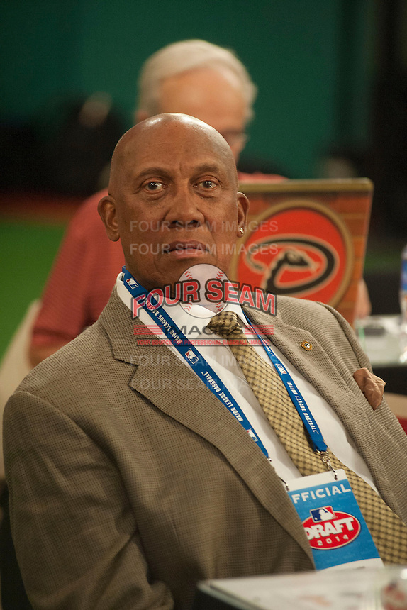 Chicago Cubs Hall of Famer Ferguson Jenkins during the MLB Draft on Thursday June 05,2014 at Studio 42 in Secaucus, NJ.   (Tomasso DeRosa/ Four Seam Images)