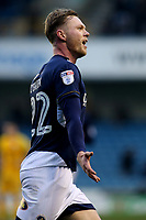 Aiden O'Brien celebrates scoring Millwall's first goal during Millwall vs Preston North End, Sky Bet EFL Championship Football at The Den on 13th January 2018
