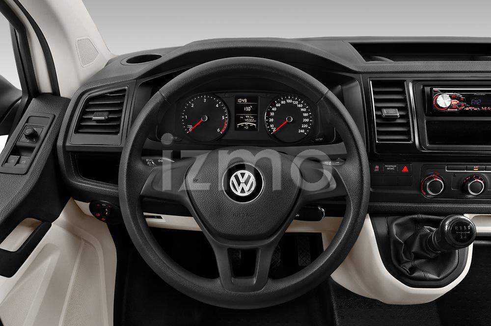 Car pictures of steering wheel view of a 2018 Volkswagen Transporter Base 4 Door Pick Up