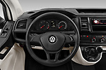Car pictures of steering wheel view of a 2018 Volkswagen Transporter Base 4 Door Pick Up