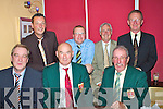 At the Waterville Golf Club's Captain's Dinner in the Smugglers Inn were front l-r; John Fleming, Captain Aidan MacAuliffe, President Vincent O'Sullivan, back l-r; Brian Higgins, Vice-captain Finbar McGillicuddy, John Morris & Pat Everett.