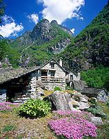 CHE, Schweiz, Tessin, Bergdorf Fontanellata im Val Bavona | CHE, Switzerland, Ticino, Mountain village Fontanellata at Bavona Valley