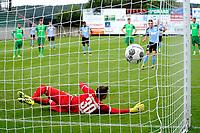 RODINGHAUSEN, Voetbal, Rodinghausen - FC Groningen, voorbereiding  seizoen 2017-2018, 15-07-2017, FC Groningen speler Oussama Idrissi scoort uit strafschop 1-1 langs doelman Niclas Heimann