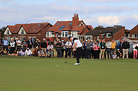 Caolan Rafferty (GB&I) on the 16th during Day 2 Singles at the Walker Cup, Royal Liverpool Golf CLub, Hoylake, Cheshire, England. 08/09/2019.<br /> Picture Thos Caffrey / Golffile.ie<br /> <br /> All photo usage must carry mandatory copyright credit (© Golffile | Thos Caffrey)