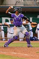 Grand Junction Rockies catcher Jairo Rosario #12 on defense against the Grand Junction Rockies at Lindquist Field on June 26, 2013 in Ogden, Utah. (Stephen Smith/Four Seam Images)