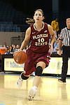 31 January 2013: Florida State's Leonor Rodriguez (ESP). The University of North Carolina Tar Heels played the Florida State University Seminoles at Carmichael Arena in Chapel Hill, North Carolina in an NCAA Division I Women's Basketball game. UNC won the game 72-62.
