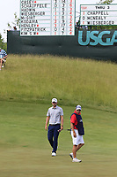 Bernd Wiesberger (AUT) and caddy Shane at the 4th green during Friday's Round 2 of the 117th U.S. Open Championship 2017 held at Erin Hills, Erin, Wisconsin, USA. 16th June 2017.<br /> Picture: Eoin Clarke | Golffile<br /> <br /> <br /> All photos usage must carry mandatory copyright credit (&copy; Golffile | Eoin Clarke)