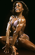 Atlantic City, April, 24, 1981. Carla Dunlap at the Women's World Bodybuilding Championships.
