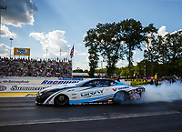 Jun 9, 2017; Englishtown , NJ, USA; NHRA pro stock driver Tanner Gray during qualifying for the Summernationals at Old Bridge Township Raceway Park. Mandatory Credit: Mark J. Rebilas-USA TODAY Sports