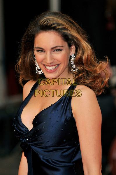 KELLY BROOK .Red Carpet Arrivals for the British Academy Television Awards 2008, held at the London Palladium, London, England, April 20th 2008. .BAFTA BAFTA's portrait headshot blue dress silver earrings .CAP/PL.©Phil Loftus/Capital Pictures