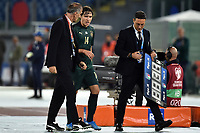 Federico Chiesa of Italy injured leaves the pitch  <br /> Roma 12-10-2019 Stadio Olimpico <br /> European Qualifiers Qualifying round Group J <br /> Italy - Greece <br /> Photo Andrea Staccioli/Insidefoto