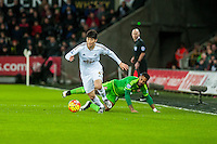 Ki Sung-Yueng of Swansea in action during the Barclays Premier League match between Swansea City and Sunderland played at the Liberty Stadium, Swansea  on  January the 13th 2016