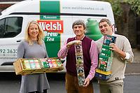 Pictured L-R: Sarah, Alan and James Wenden. Monday 05 November 2018<br /> Re: Welsh Brew Tea in Langland, Swansea, Wales, UK