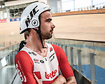European Time Trial Champion Victor Campenaerts (BEL) is the new UCI Hour Record holder after covering 55,089 km, beating Bradley Wiggins record by 563 metres. Victor wearing a HJC Adwatt helmet. Aguascalientes, Mexico. 16th April 2019.<br /> Picture: Ridley Bikes | Cyclefile<br /> <br /> All photos usage must carry mandatory copyright credit (&copy; Cyclefile | Ridley Bikes)