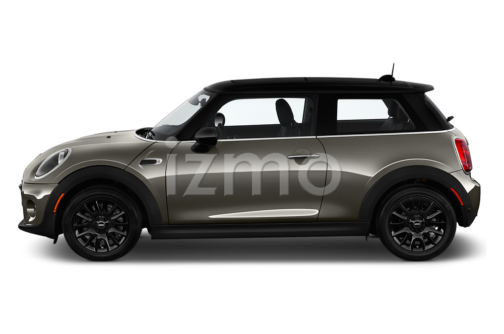 Car driver side profile view of a 2019 Mini Cooper Hardtop 2 Door 3 Door Hatchback