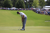 Keegan Bradley (USA) putts on the 1st green during Saturday's Round 3 of the 2017 PGA Championship held at Quail Hollow Golf Club, Charlotte, North Carolina, USA. 12th August 2017.<br /> Picture: Eoin Clarke | Golffile<br /> <br /> <br /> All photos usage must carry mandatory copyright credit (&copy; Golffile | Eoin Clarke)
