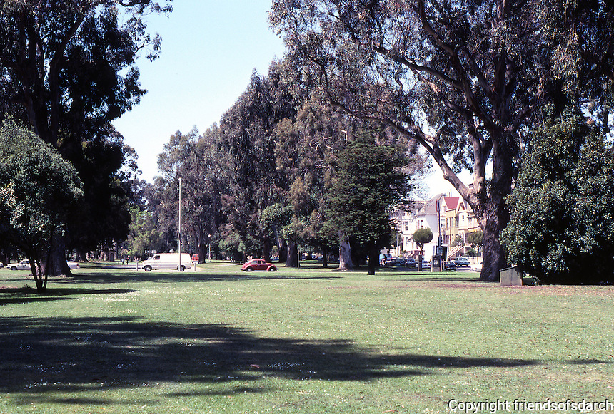 San Francisco: Park Panhandle--looking west.  Photo '84.