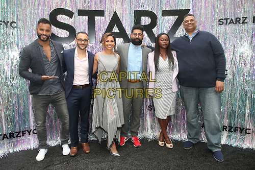 CENTURY CITY, CA - June 2: Ricky Whittle, Omid Abtahi, Salli Richardson-Whitfield, Mousa Kraish, Yetide Badaki, Rodney Barnes, at Starz FYC 2019 — Where Creativity, Culture and Conversations Collide at The Atrium At Westfield Century City in Century City, California on June 2, 2019. <br /> CAP/MPIFS<br /> ©MPIFS/Capital Pictures