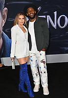 "LOS ANGELES, CA. October 01, 2018: Allison Holker & Stephen Boss at the world premiere for ""Venom"" at the Regency Village Theatre.<br /> Picture: Paul Smith/Featureflash"