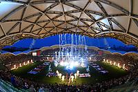Opening ceremony.<br /> RLWC 2017. Australia Kangaroos v England. Rugby League World Cup. Melbourne Rectangular Stadium, Melbourne Australia. Friday 27 October 2017. © www.photosport.nz MANDATORY CREDIT/BYLINE: SWpix.com/PhotosportNZ