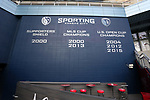 KANSAS CITY, KS - SEPTEMBER 20: A view of the wall listing honors won by Sporting Kansas City before the game. Sporting Kansas City hosted the New York Red Bulls on September 20, 2017 at Children's Mercy Park in Kansas City, KS in the 2017 Lamar Hunt U.S. Open Cup Final. Sporting Kansas City won the match 2-1.