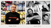 IL VERO E IL FALSO:.Ritratti di veri soci Coop e degli attori che interpretano la sit-Com Casa Coop.Luciano De Luca.