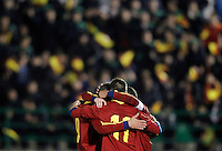 Spain's players celebrate goal during international sub21 match.March 21,2013. (ALTERPHOTOS/Acero) /NortePhoto