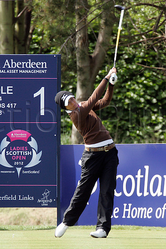 03.05.2012.  East Lothian, Scotland. Veronica Zorzi (ITA) in action during the Ladies Scottish Open from the Archerfield Fidra Links Course.