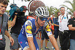 David De La Cruz (ESP) Quick-Step Floors crosses the finish line at the end of Stage 10 of the 2017 La Vuelta, running 164.8km from Caravaca A&ntilde;o Jubilar 2017 to ElPozo Alimentaci&oacute;n, Spain. 29th August 2017.<br /> Picture: Unipublic/&copy;photogomezsport | Cyclefile<br /> <br /> <br /> All photos usage must carry mandatory copyright credit (&copy; Cyclefile | Unipublic/&copy;photogomezsport)