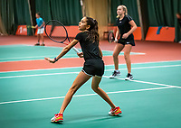 Wateringen, The Netherlands, December 15,  2019, De Rhijenhof , NOJK juniors doubles, Final girls 12 years, Britt de Pree (NED) Lina Ilahi (NED) (L)<br /> Photo: www.tennisimages.com/Henk Koster