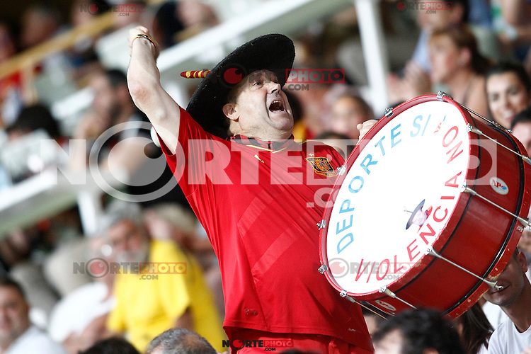 Spain's supporter Manolo El del Bombo during FIFA World Cup 2018 Qualifying Round match. September 5,2016.(ALTERPHOTOS/Acero)