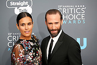 Joseph Fiennes and Maria Dolores Dieguez attend the 23rd Annual Critics' Choice Awards at Barker Hangar in Santa Monica, Los Angeles, USA, on 11 January 2018. Photo: Hubert Boesl - NO WIRE SERVICE - Photo: Hubert Boesl/dpa /MediaPunch ***FOR USA ONLY***