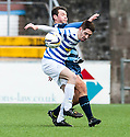 Morton's Stefan McCluskey and Forfar's Derek Young.