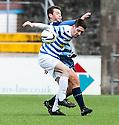 Morton's Stefan McCluskey and Forfar's Derek Young.