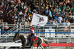 Flag Girl during the Cody Stampede event in Cody, WY - 7.1.2019 Photo by Christopher Thompson