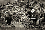 Wheelchair basketball competition during the 2011 Warrior Games, U.S. Olympic Training Center, Colorado Springs, CO.