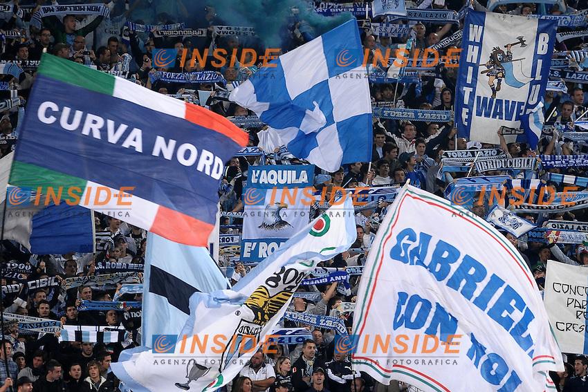 """Tifosi Lazio. Lazio fans.Roma 16/10/2011 Stadio """"Olimpico"""".Football Calcio Serie A 2011/2012.Lazio Vs Roma .Foto Insidefoto Andrea Staccioli"""