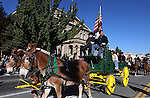 Nevada Gov. Brian Sandoval rides in the annual Nevada Day Parade in Carson City, Nev., on Saturday, Oct. 28, 2011..Photo by Cathleen Allison