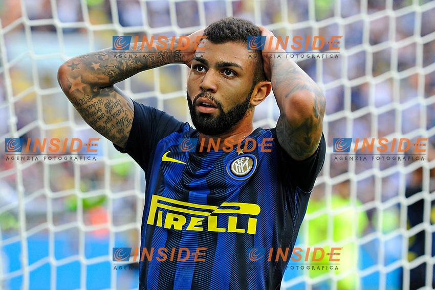 Delusione Gabriel Barbosa Inter<br /> Milano 25-09-2016 Stadio Giuseppe Meazza - Football Calcio Serie A Inter - Bologna. Foto Giuseppe Celeste / Insidefoto