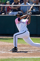 August 30, 2009: Everett AquaSox's Jose Rivero at-bat during a Northwest League game against the Salem-Keizer Volcanoes at Everett Memorial Stadium in Everett, Washington.  The AquaSox wore pink jerseys for breast cancer awareness.