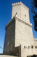 Erice: Torre del Balio, castello Pepoli. <br /> erice: Del Balio tower, pepoli castle