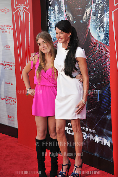 "Janice Dickinson & daughter at the world premiere of ""The Amazing Spider-Man"" at Regency Village Theatre, Westwood..June 29, 2012  Los Angeles, CA.Picture: Paul Smith / Featureflash"