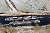 Elbe Luebeck Kanal: EUROPA, DEUTSCHLAND, SCHLESWIG- HOLSTEIN,(EUROPE, GERMANY), 17.02.2009: Elbe-Luebeck-Kanal, Naturpark Lauenburgische Seen, Schleswig-Holstein, Flusslandschaft des Elbe-Luebeck-Kanals, Elbe Luebeck Canal,  Binnenschiff, eng, Transportweg, Ausbau,, hohes Verkehrsaufkommen, Weg nach Skandinavien, Schifffahrt, Logistik, .c o p y r i g h t : A U F W I N D - L U F T B I L D E R . de.G e r t r u d - B a e u m e r - S t i e g 1 0 2, .2 1 0 3 5 H a m b u r g , G e r m a n y.P h o n e + 4 9 (0) 1 7 1 - 6 8 6 6 0 6 9 .E m a i l H w e i 1 @ a o l . c o m.w w w . a u f w i n d - l u f t b i l d e r . d e.K o n t o : P o s t b a n k H a m b u r g .B l z : 2 0 0 1 0 0 2 0 .K o n t o : 5 8 3 6 5 7 2 0 9.V e r o e f f e n t l i c h u n g  n u r  m i t  H o n o r a r  n a c h M F M, N a m e n s n e n n u n g  u n d B e l e g e x e m p l a r !.