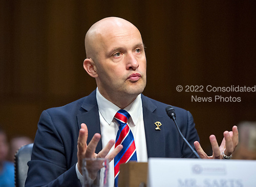 Director Janis Sarts, Director of NATO Strategic Communication Center of Excellence gives testimony before the US Senate Select Committee on Intelligence on the Russian intervention in the 2016 Presidential election on Capitol Hill in Washington, DC on Wednesday, June 28, 2017.<br /> Credit: Ron Sachs / CNP