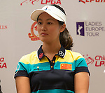 Liu Xi Yu attends the press conference at the beginning of World Ladies Championship 2016 on 09 March 2016 at Mission Hills Olazabal Golf Course in Dongguan, China. Photo by Victor Fraile / Power Sport Images