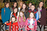 Kathleen, Trish, Clodagh, Darragh, Ciara, Eimear and Caitlin O'Donoghue with Abbie and Aishling O'Sullivan and Ella-Kate and Finnolla Halpin, all from Listry, enjoying the Outlet Centre Christmas Craft and Food Fair in Killarney last Sunday.
