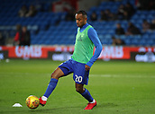 1st December 2017, Cardiff City Stadium, Cardiff, Wales; EFL Championship Football, Cardiff City versus Norwich City; Loic Damour of Cardiff City warming up before the game