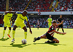 Ched Evans of Sheffield Utd attempts to intercept the ball during the Championship match at Bramall Lane, Sheffield. Picture date 26th August 2017. Picture credit should read: Simon Bellis/Sportimage